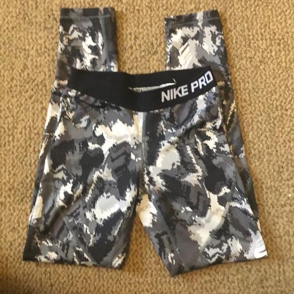 Nike Other - Nike pro hyperwarm tights leggings youth Large